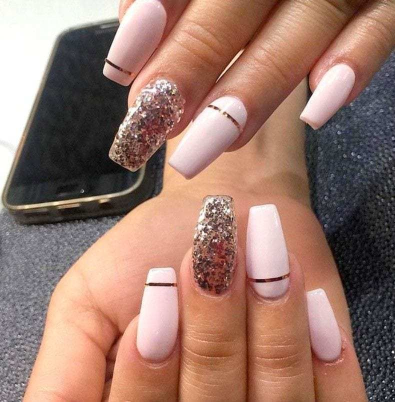 52 Newest Acrylic Nail Designs Ideas To Try This Year Wedding Acrylic Nails Long Nail Designs Coffin Shape Nails