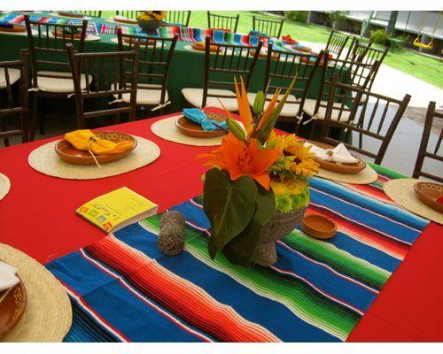 Idea para boda decoracion de mesa boda a la mexicana for Decoracion mexicana