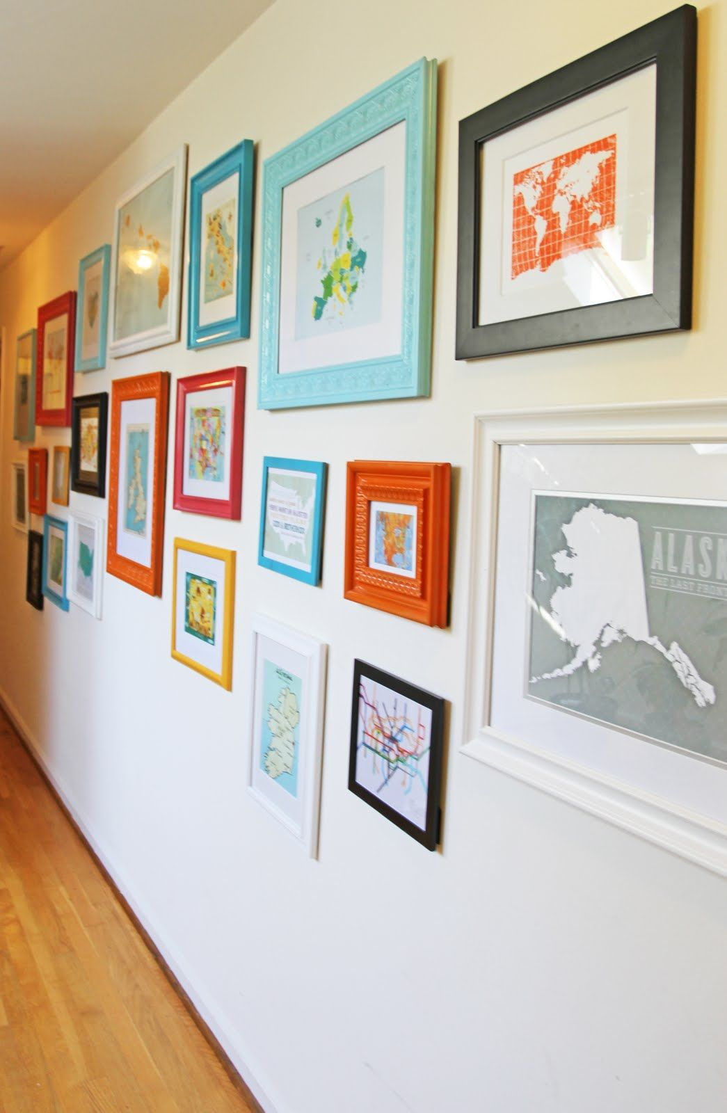 Running from the Law: Home Project - Map Wall | Blankets, duvets and ...