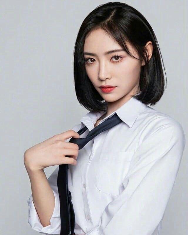 Kiki Xu From Idol Pd 3 Cute Hairstyles For Short Hair Kpop Short Hair Short Hair With Bangs