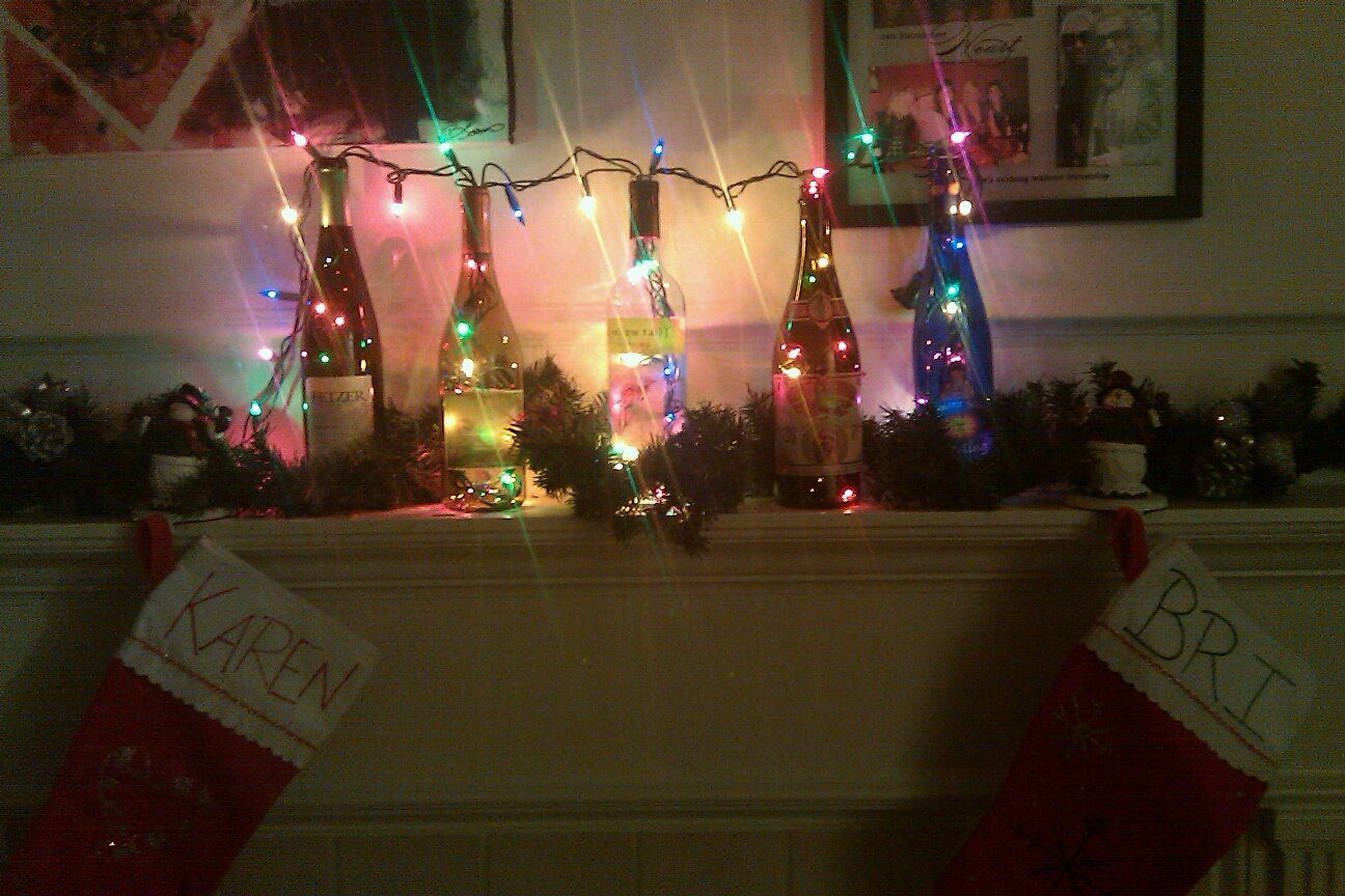 My do it yourself christmas mantle decoration with homemade my do it yourself christmas mantle decoration with homemade decorated stockings for my roommate and i solutioingenieria Images