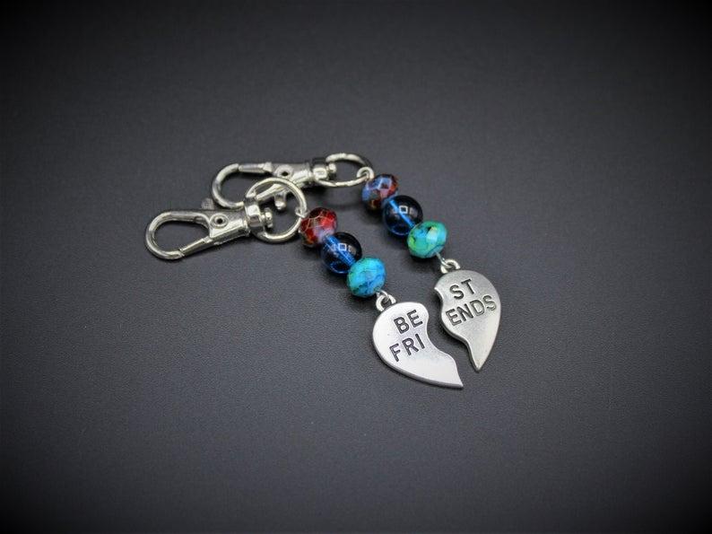 Zipper Charm Zipper Pull Personalised Keyring Silver Heart Charm Heart Keyring Personalised Gift Handbag Accessory Handbag Jewellery