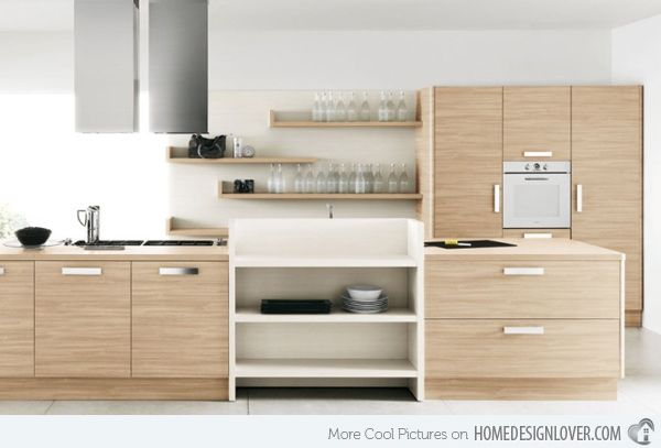 20 Sleek And Natural Modern Wooden Kitchen Designs. Black Kitchen  CabinetsKitchen WoodBeech ...