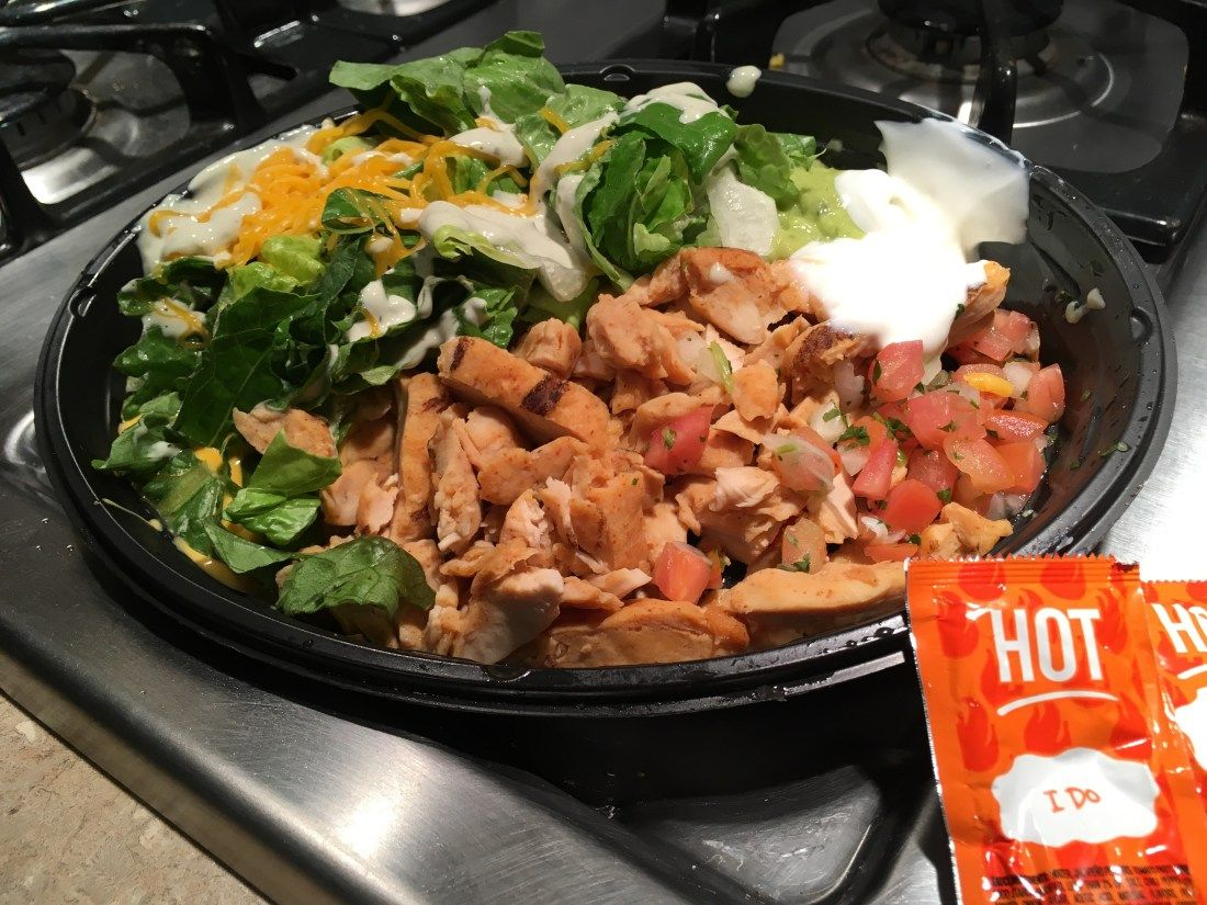 tacobellpowerbowlchicken Low carb taco bell, Fast