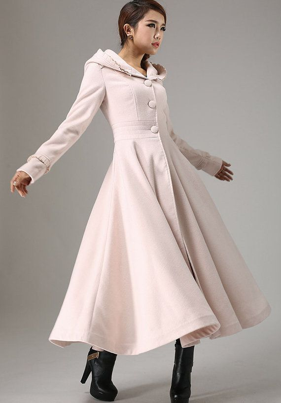 Fashion Womens Slim cute Outwear Ladies Trench Long coat Winter gift Warm Coat