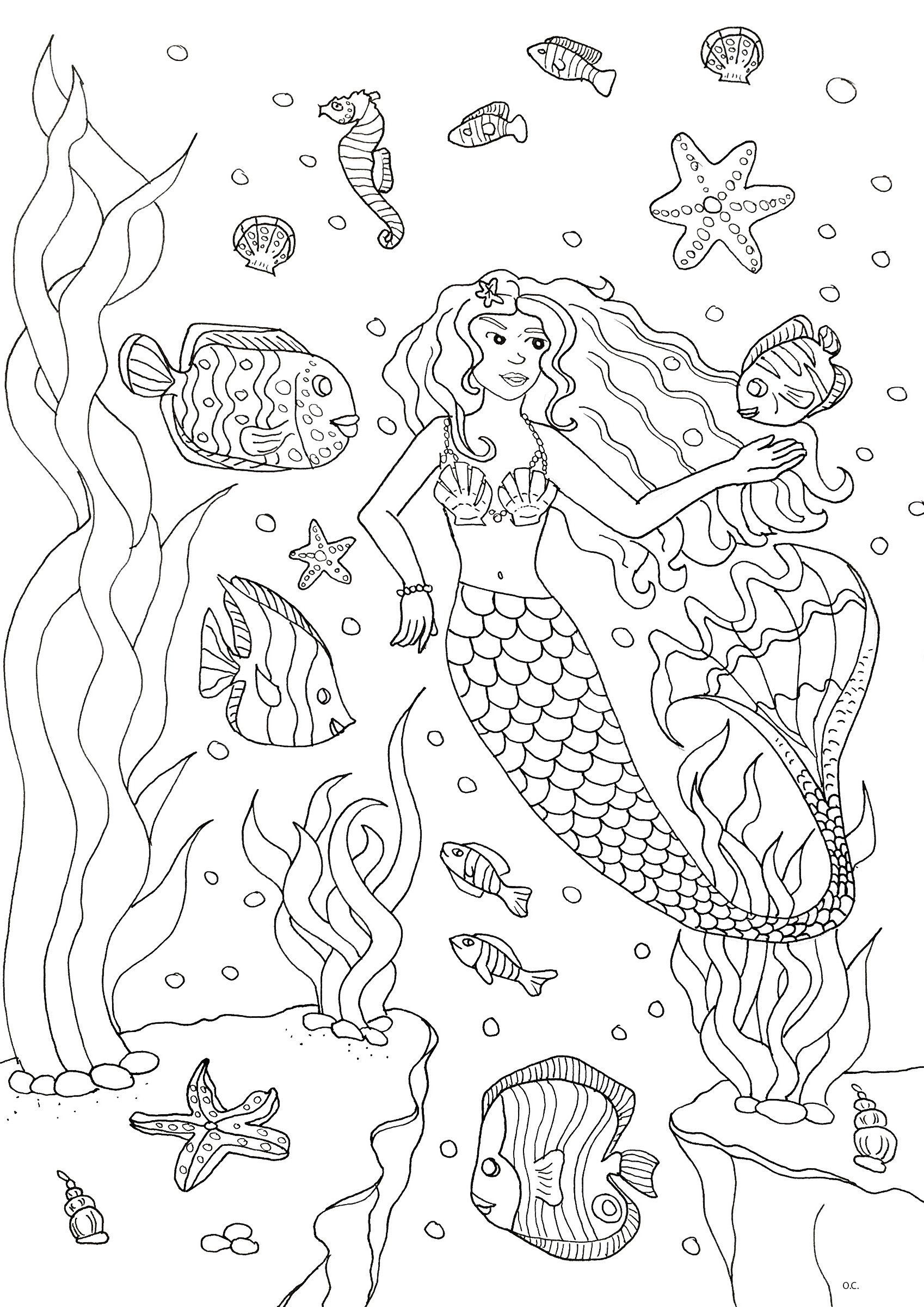 Here Are Our Coloring Pages Related To The Sea Fishes Imaginary Creatures Of The Deep You Will Mermaid Coloring Pages Coloring Pages Mermaid Coloring