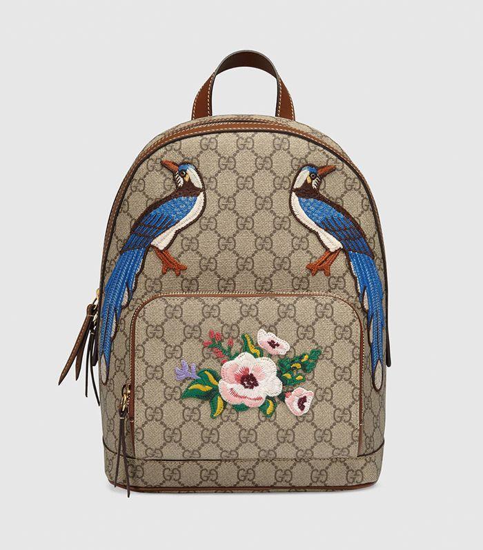 7e91e97dd7db Gucci Men - Gucci XL GG floral print backpack - 419584KYSDK8936 ...