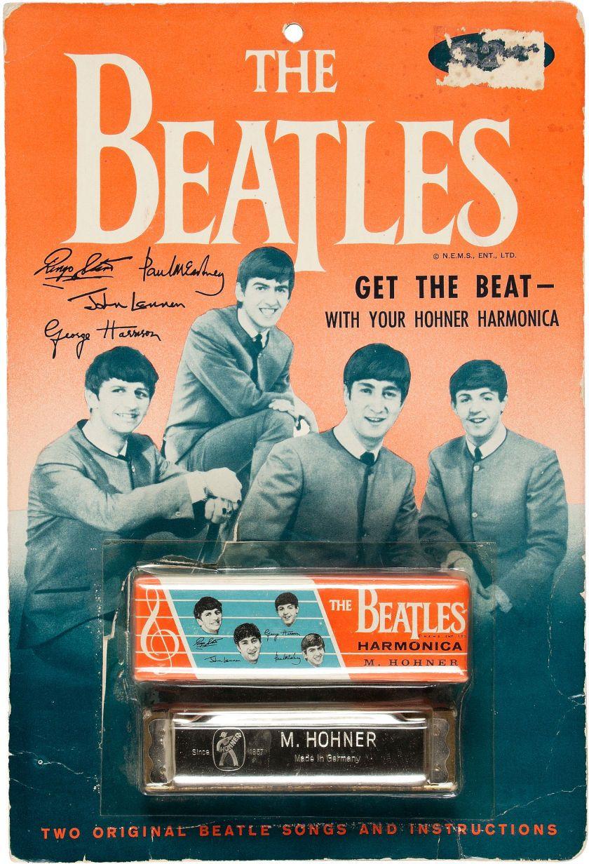 Beatles Harmonica Vintage Display In 2019 The Beatles
