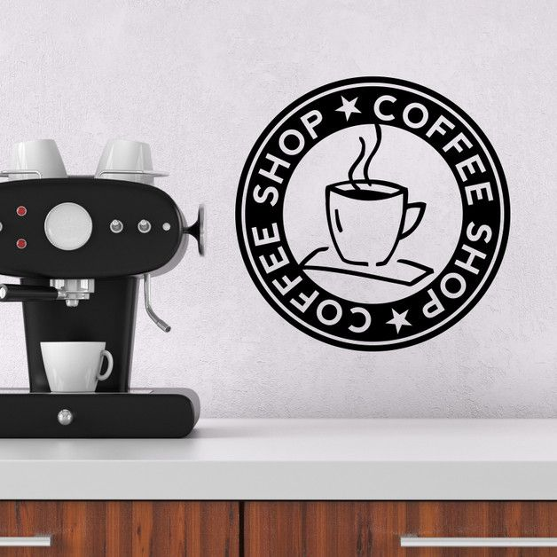 Wandtattoo ++ COFFEE SHOP LOGO ++ Kaffee Küche Coffee shop logo