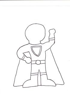 Make Your Own Superhero And Have Kids Write What Their Power Is