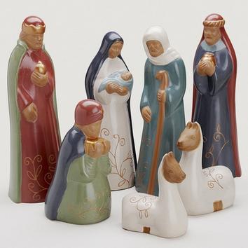 Andes Mountain Nativity  Ceramic  Peru