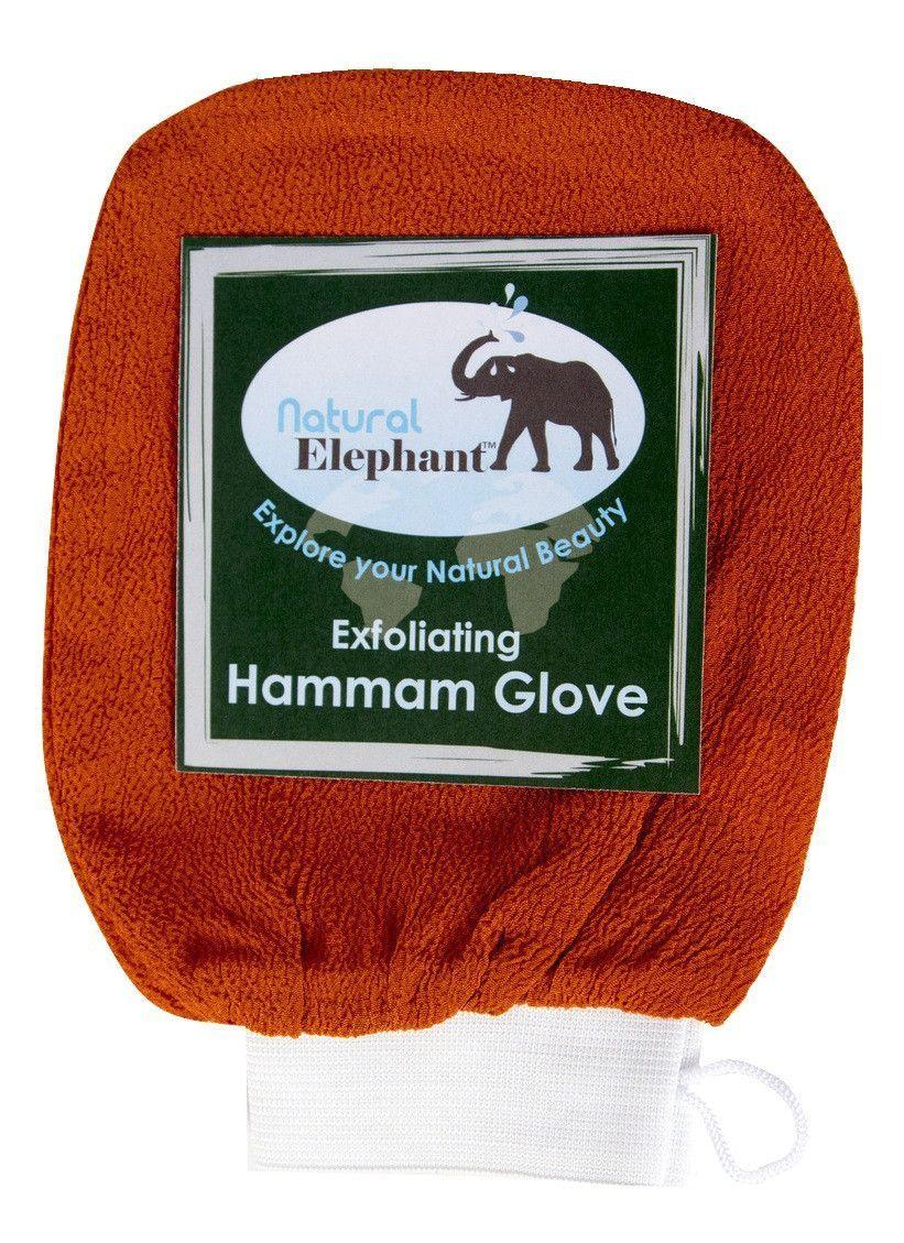 Exfoliating Hammam Glove - Face and Body Exfoliator Mitt Burnt Orange