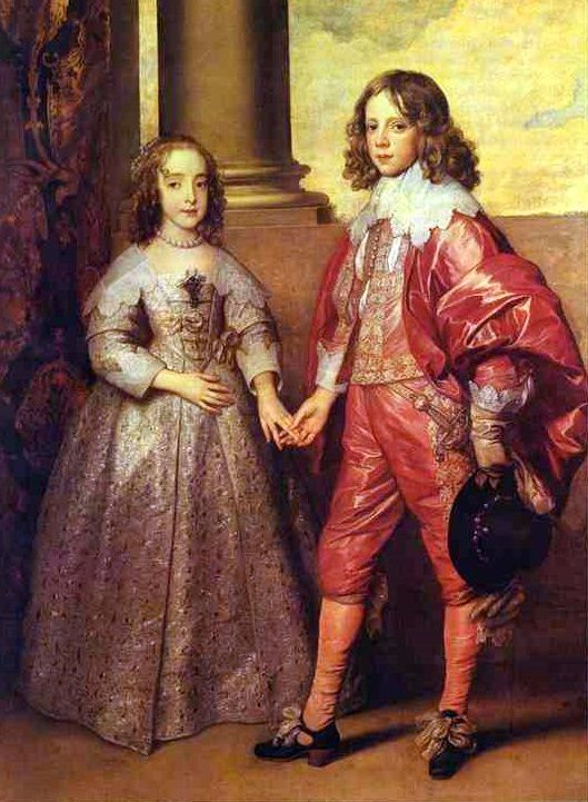 """Princess Mary Stuart And Prince William Of Orange, Future William III"", 1641, by Sir Anthony van Dyck (Flemish, 1599-1641)"