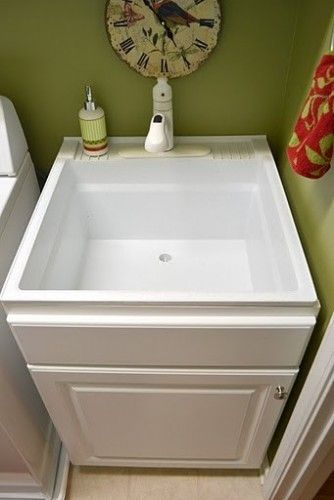 Less pricey sink disguised build a cabinet box around for Mudroom sink ideas