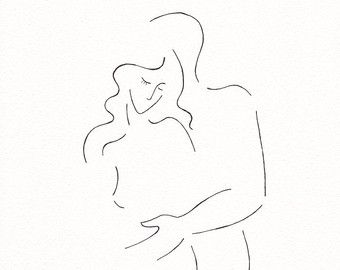 Bett strichzeichnung  Minimalistische Liebhaber Kunstdruck. Erotische von siret auf Etsy ...