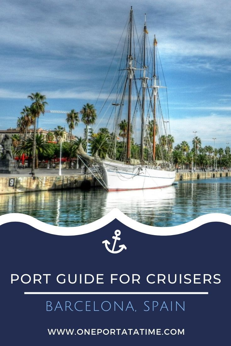 Everything you need to know when cruising from the port of Barcelona. This cruise port guide includes terminal location, passenger and luggage drop off instructions, currency and other money matters, how to get around the city, weather forecasts, and events, dining, and shopping options near Barcelona's cruise terminal.  #cruise #cruises #cruisetravel #cruising #cruiseportguide #barcelona #spain