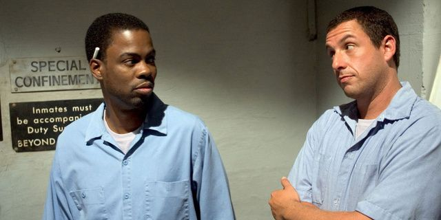 Chris Rock As Caretaker And Adam Sandler As Paul Crewe In The Longest Yard Adam Sandler Chris Rock Football Movies