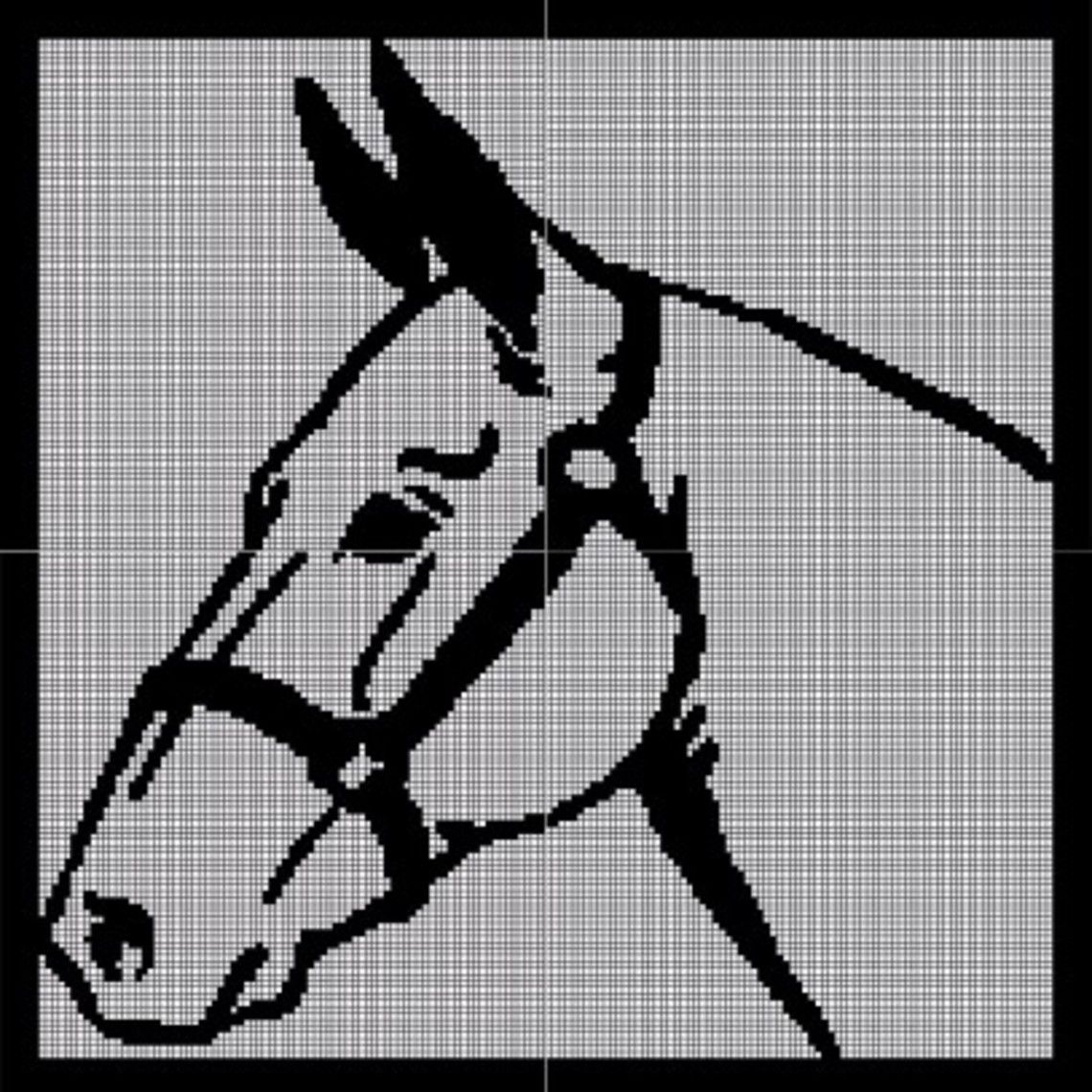 Crochet Pattern Excel : Horse Crochet Pattern Afghan Graph, USD5.00... Pattern now ...