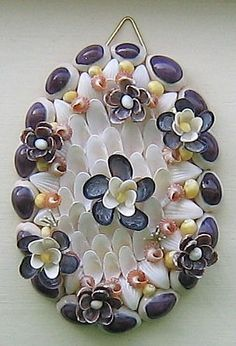 Craft Flowers Made From Seashells