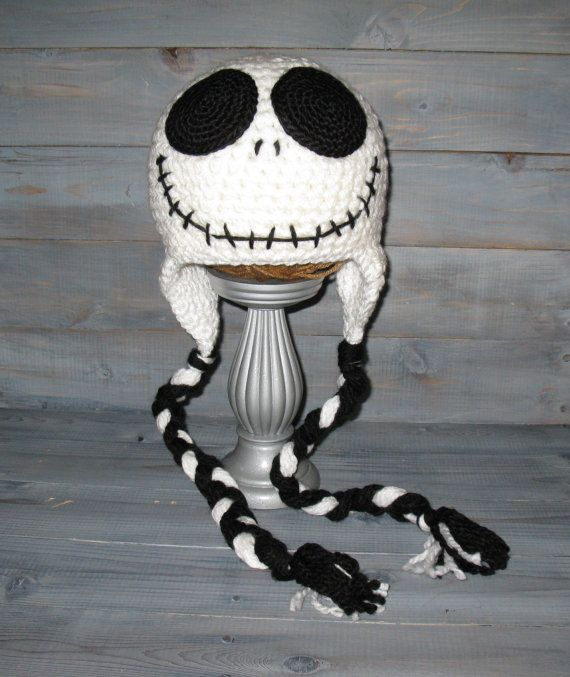 adcadf0c30eeb Adult Jack Skellington Nightmare Before Christmas crochet hat with ...