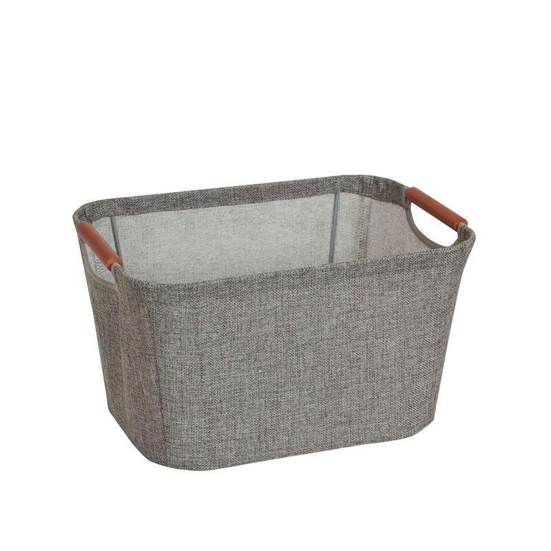 Household Essentials Linen Bin Fabric Storage Bins Canvas Storage Storage Bin