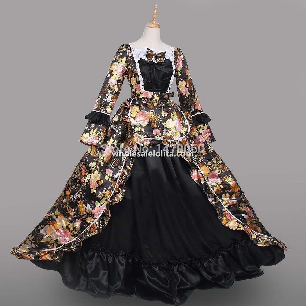 18th century wedding dress  th Century Period Victoria Print Costume Reenactment Custom Made