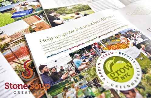 Client: GrowNYC Project: Annual Report