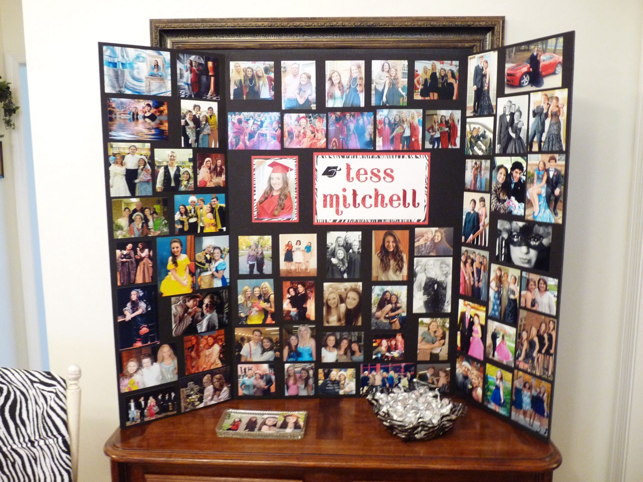 Pin By Sarah Mitchell On Graduation Party Plans Graduation Party Picture Display Graduation Party Pictures Graduation Photo Displays