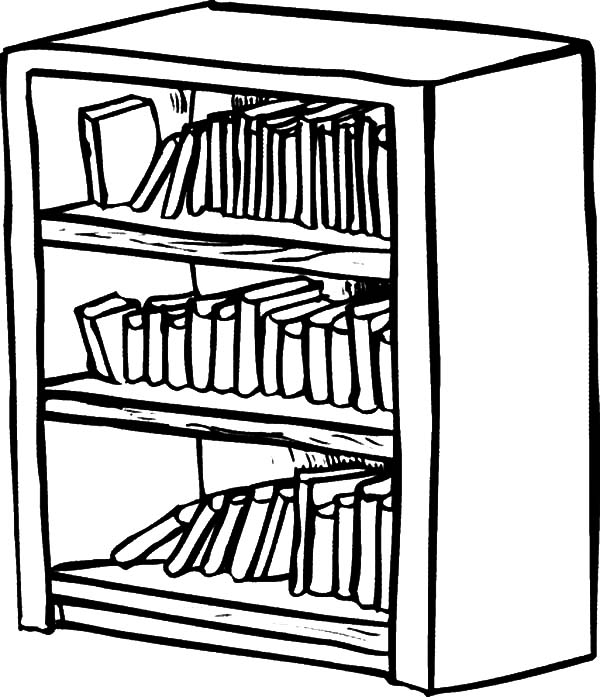 Bookshelf Coloring Pages Best Place To Color