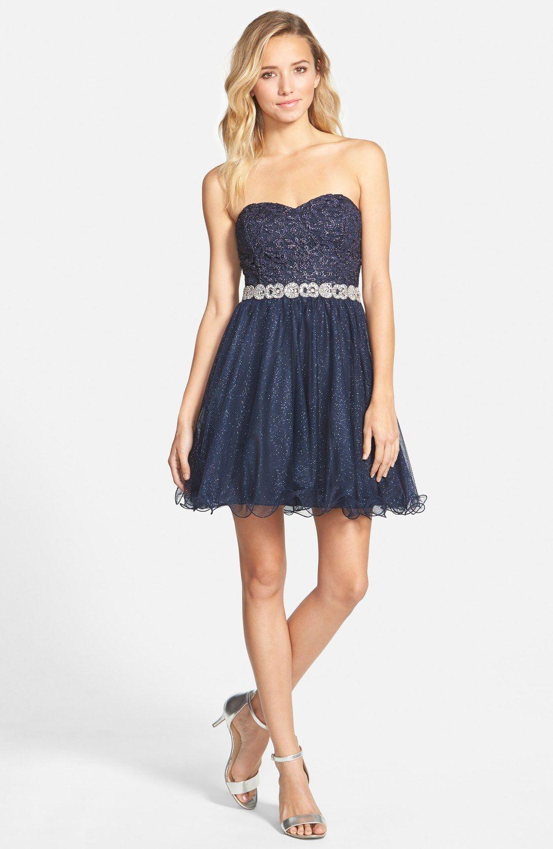 Way-In Embellished Waist Dress | Nordstrom