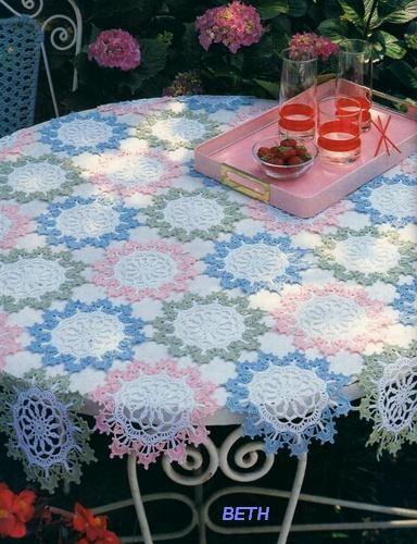 toalhas de mesa - Claudete Ferraz - Álbuns da web do Picasa.. Garden Party.. Free pattern!