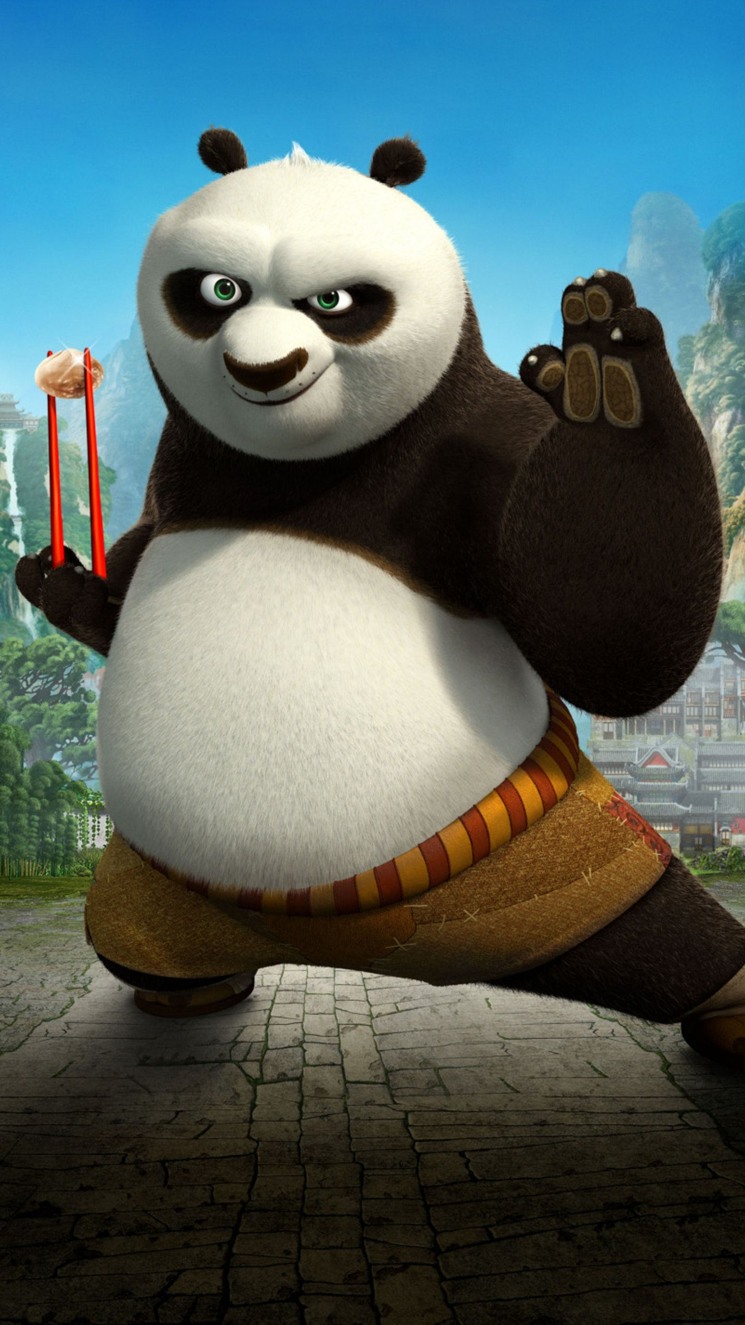 Kung Fu Panda 2 2011 Phone Wallpaper Moviemania Kung Fu Panda Cartoon Panda Panda Wallpapers