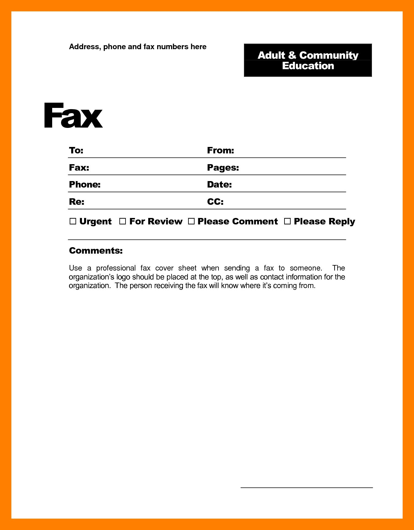 26 fax cover letter template  fax cover sheet cover