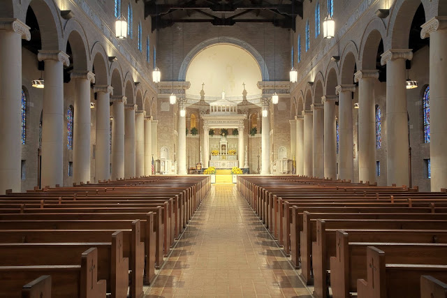 Romanesque Revival: St. John the Evangelist in Plaquemine, Louisiana ~ Liturgical Arts Journal