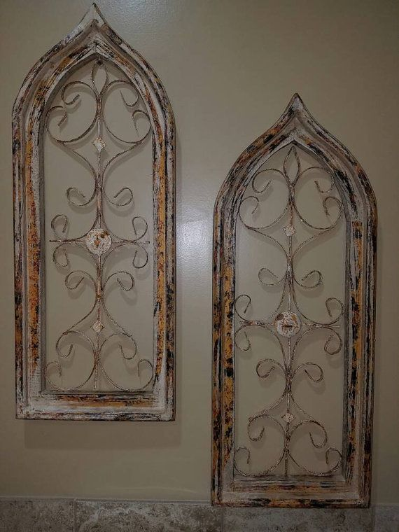 Gorgeous Arched Window Wall Decor The Windows Are White And Beautifully Distressed With Pops Of Color Showing T Arched Wall Decor Metal Arch Wall Decor Amazon