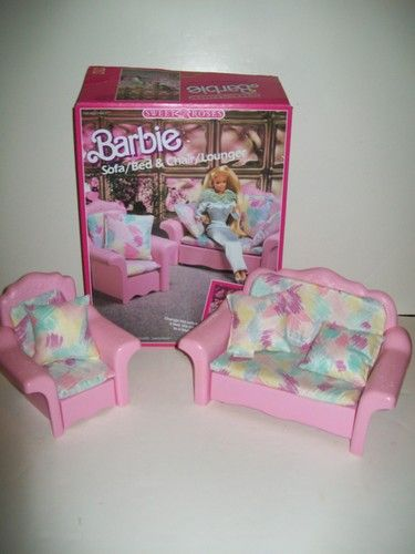 Fabulous Vtg 1987 Mattel Barbie Sweet Roses Couch Sofa Bed Mattel Bralicious Painted Fabric Chair Ideas Braliciousco