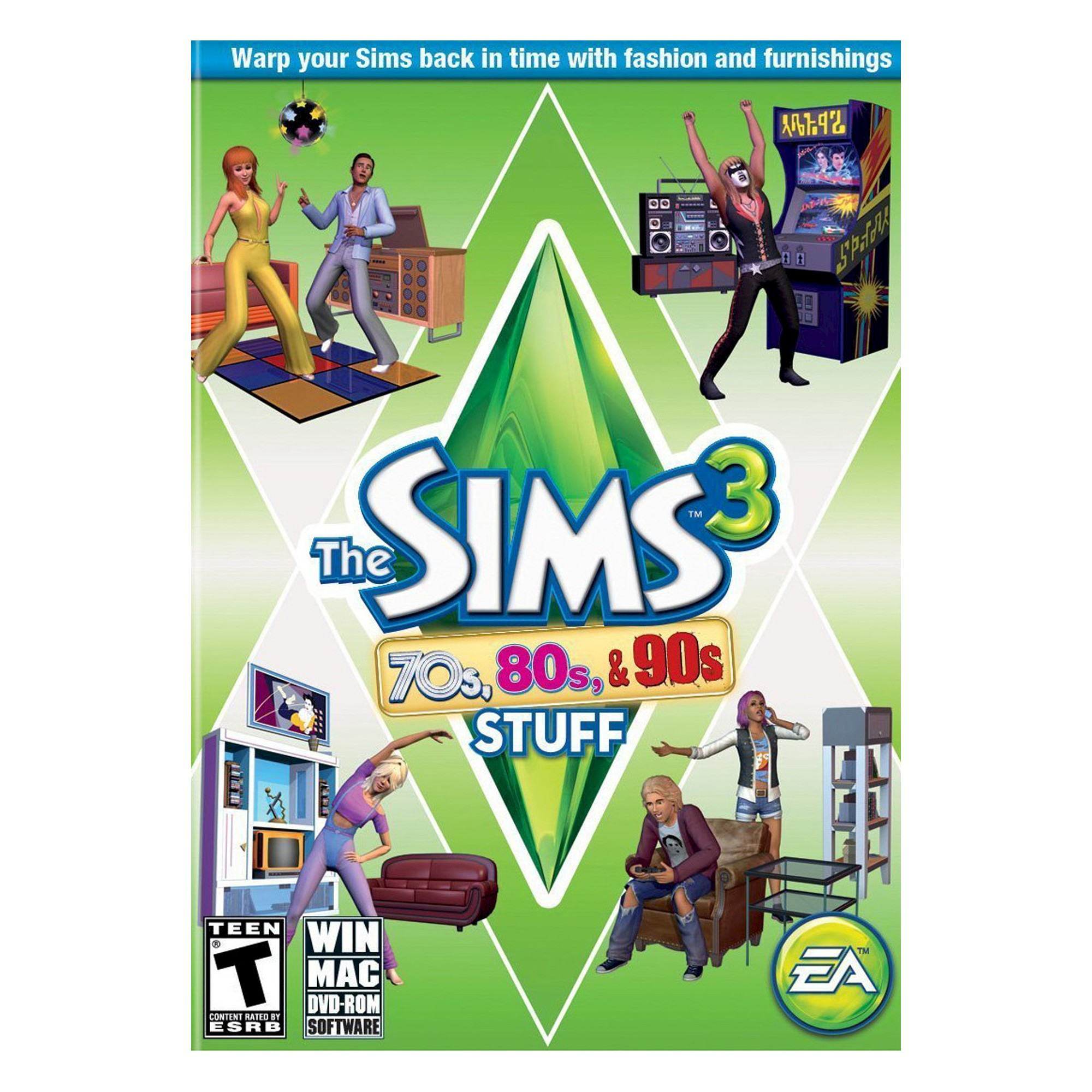 The Sims 3 70s 80s 90s Stuff Electronic Software Download Pc