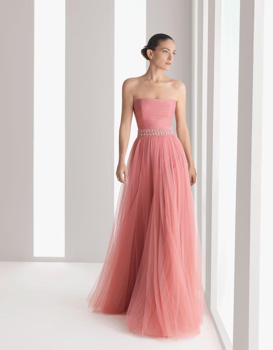 Vestido de fiesta tul rosa