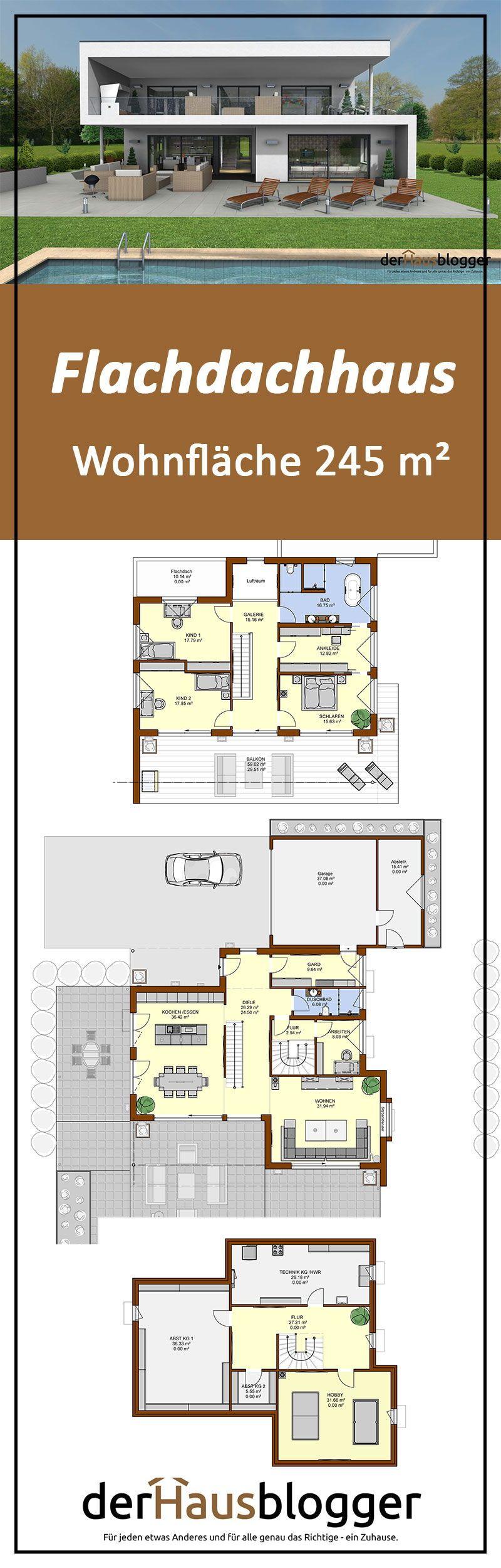 Flachdachhaus 245m² #arquitectonico