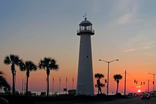 Arrived In Biloxi Via I 110 Just As The Sun Was Setting And While