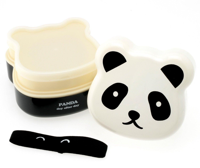Amazon.com: Kotobuki 280-129 2-Tiered Bento Box, Panda Face: Kitchen & Dining