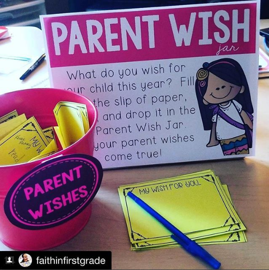 Parent Wish Jar Open House Back To School Idea This Is The