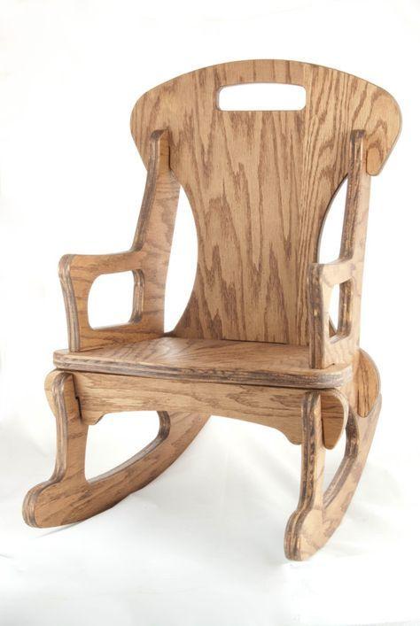 Superbe Child Sized Contemporary Handmade Rocking Chair Por FabLabTacoma