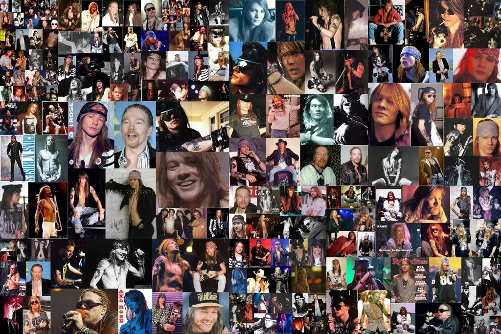 collage de fotos axl rose - Buscar con Google