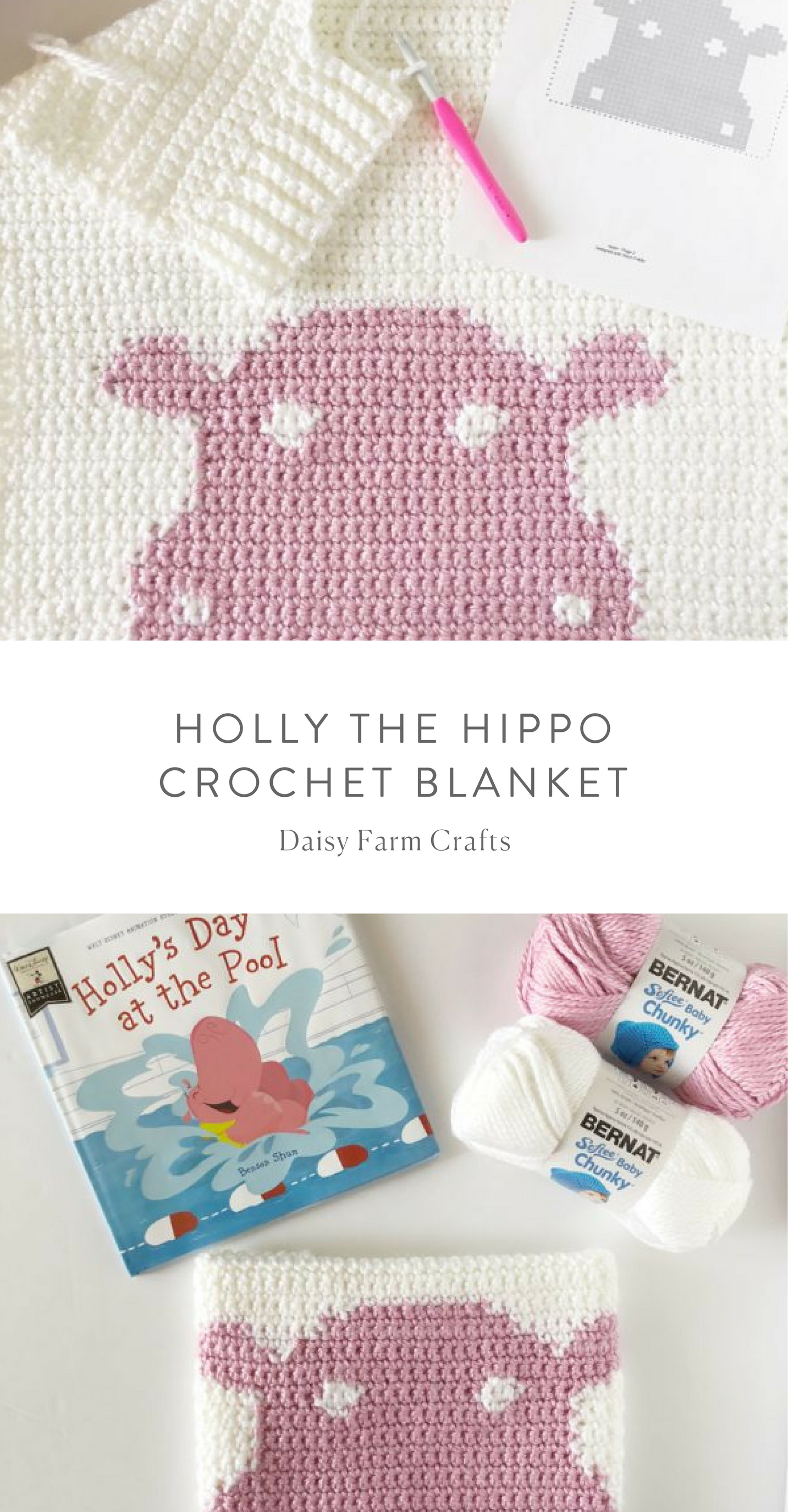 Free Pattern - Holly the Hippo Crochet Blanket #crochet | crafts ...
