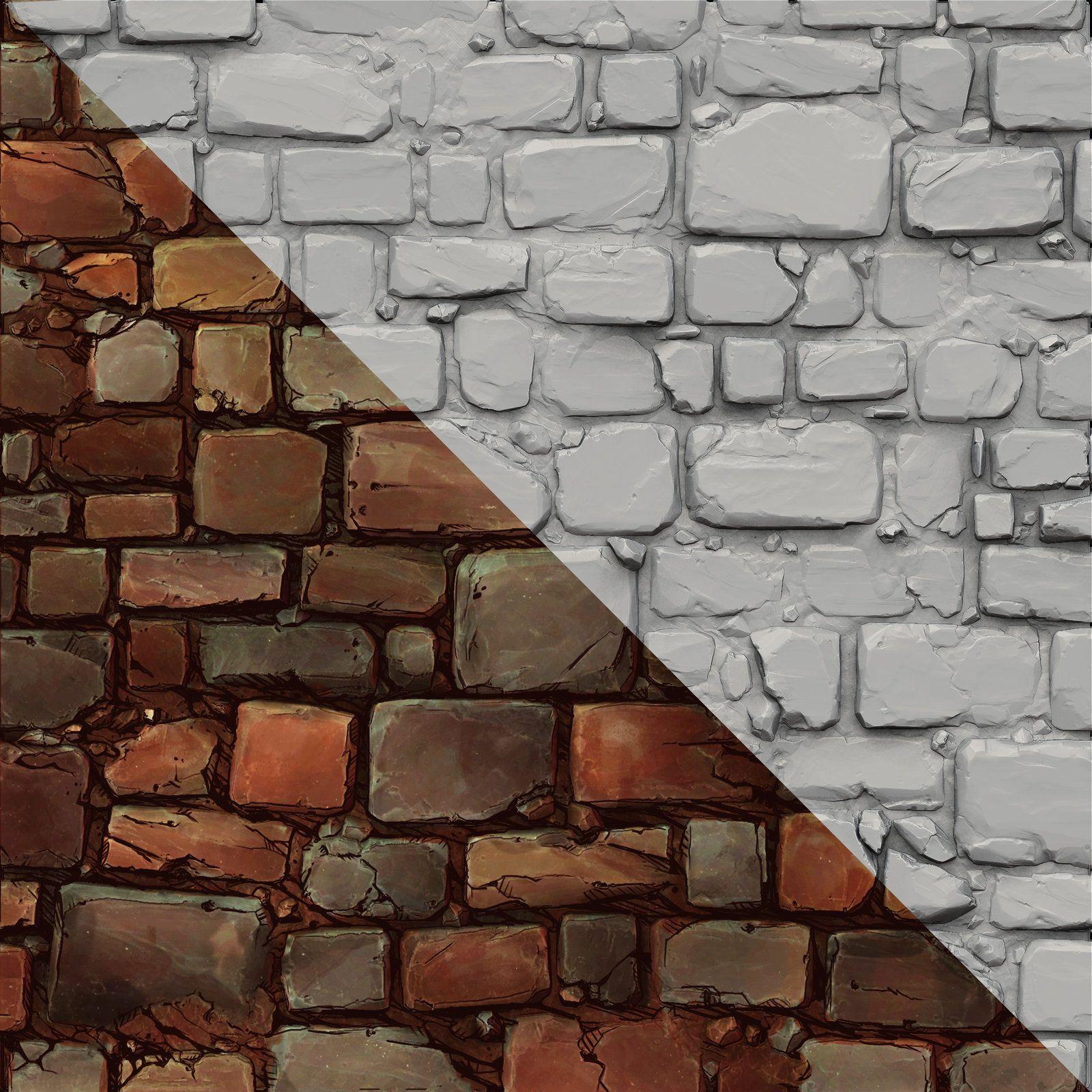 Brick Wall Sculpt And Comic Style Texture, Jesse Carpenter