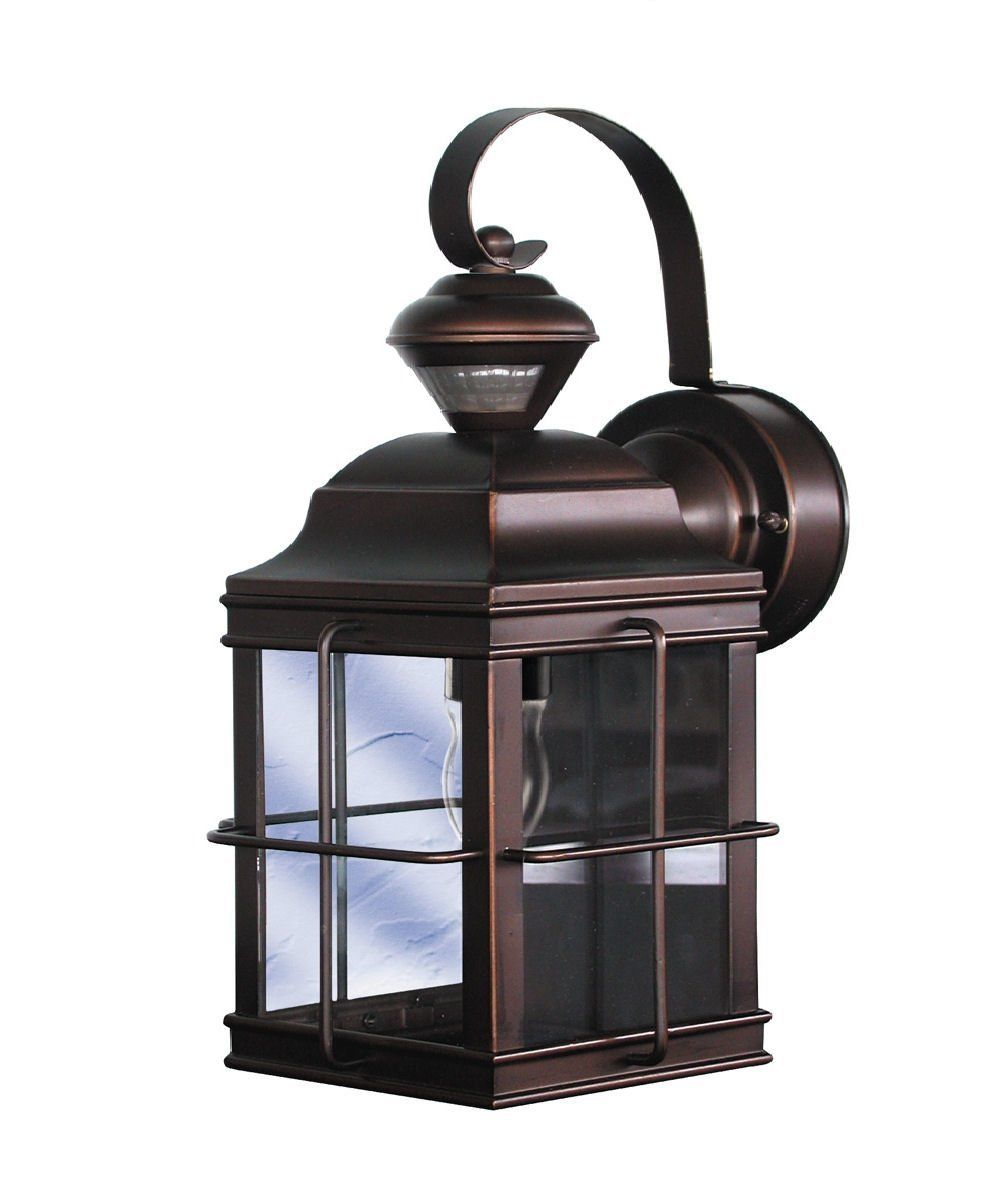 Amazon Com Heath Zenith Sl 4144 Az A New England Carriage Style 150 Degree Motion Sensing Security Ligh Outdoor Sconces Bronze Outdoor Lighting Porch Lighting