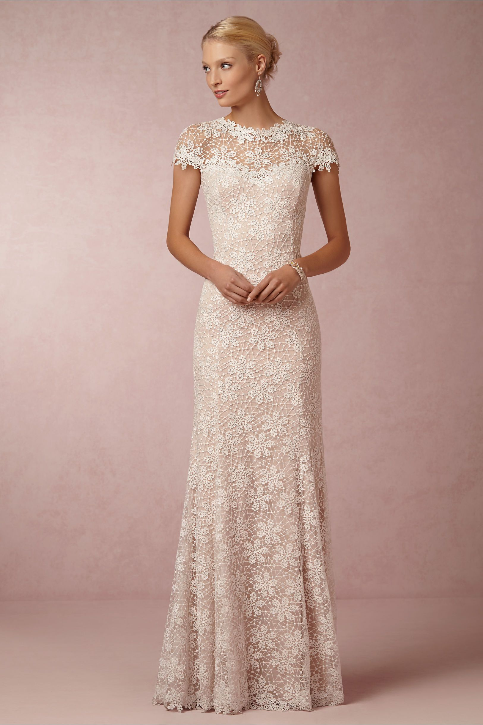 Nova Lace Gown By Tadashi Shoji For Bhldn Winter Wedding Ideas