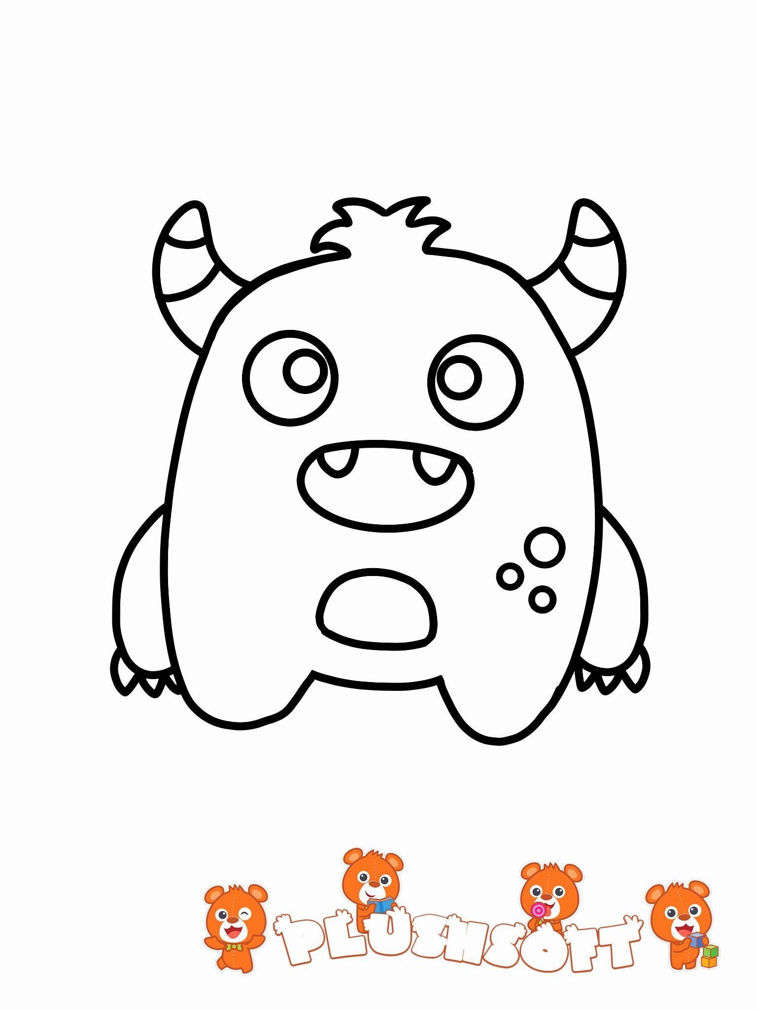 Cute Baby Fox Coloring Pages New Free Printable Coloring Page A Cute Monster For Your In 2020 Teddy Bear Coloring Pages Monster Coloring Pages Bear Coloring Pages