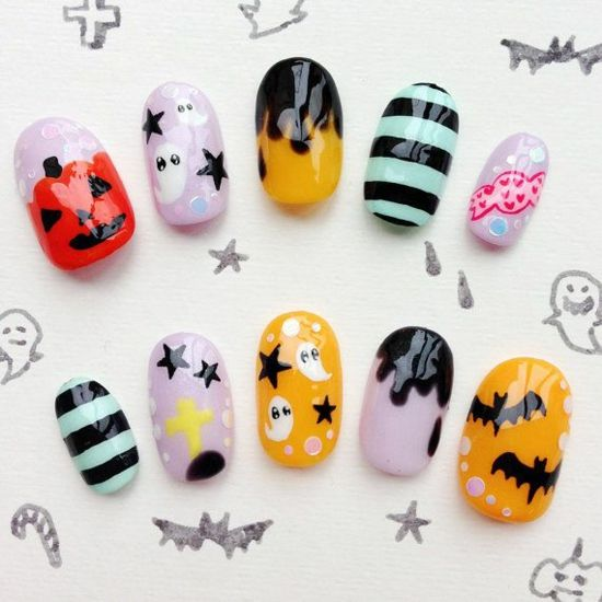 nagellack ideen nageldesigns bilder halloween | JAPANESE NAILS ...